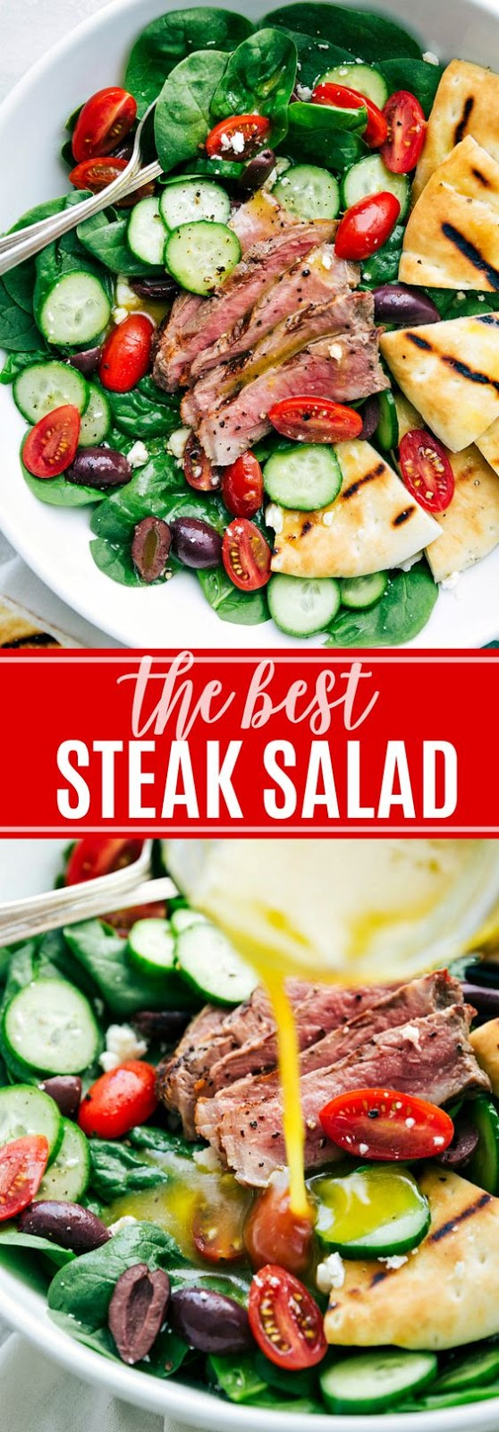 The BEST Steak Salad