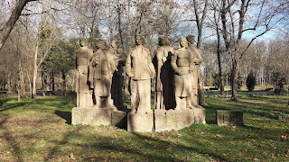 Yambol, 1930, Women, Winter, Sun, Statue,