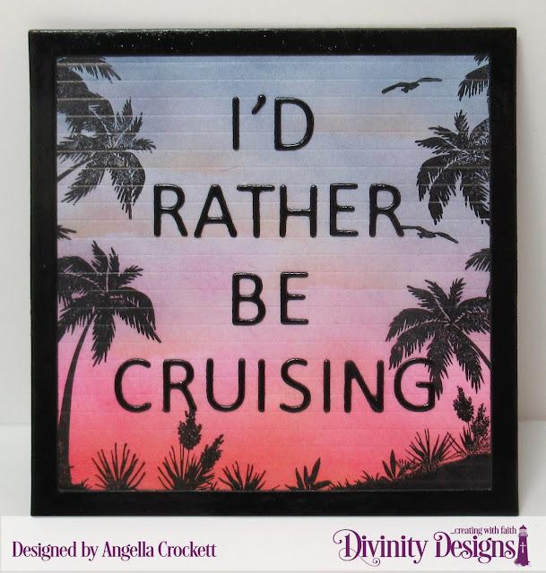 Divinity Designs LLC Bon Voyage, Letter Board Dies, Magnet Designed by Angie Crockett