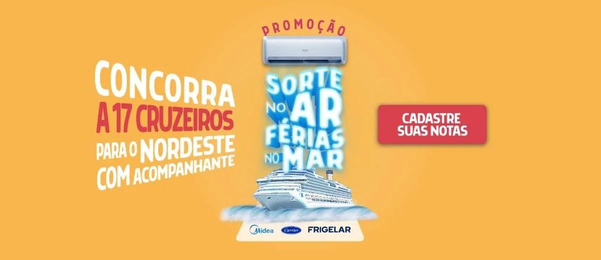 Cadastrar Promoção Frigelar 17 Cruzeiros Nordeste Férias 2020