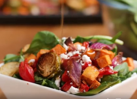 Recipe - Maple Balsamic Roasted Veggie Salad