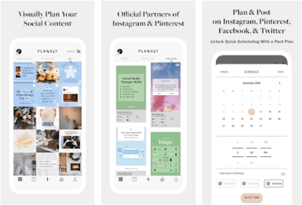 Aplikasi instagram planner - planoly
