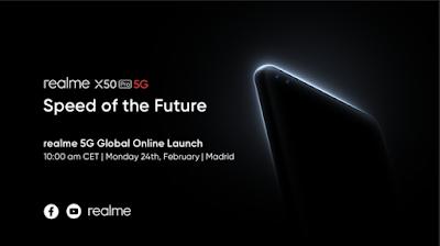 realme พร้อมเปิดตัว realme X50 Pro 5G สมาร์ทโฟนเรือธงรองรับ 5G รุ่นแรก  ผ่านช่องทางออนไลน์พร้อมกันทั่วโลก