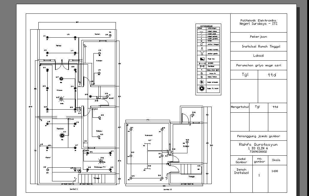 contoh wiring diagram rumah