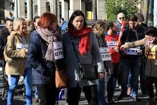 Manifestación del colegio La Milagrosa