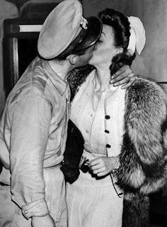 Carole Landis Kissing A Soldier