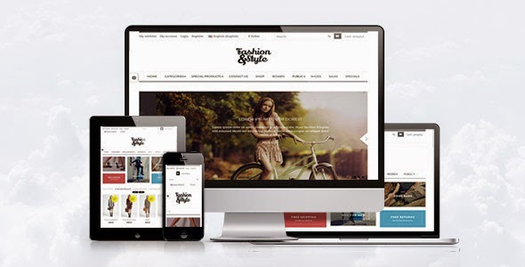 free fashion store website theme