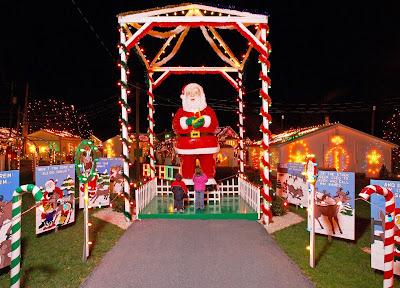 Plastic Santa and decoration