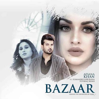 Bazaar Sad Punjabi Song Image Features Himanshi Khurana and Yuvraj Hans