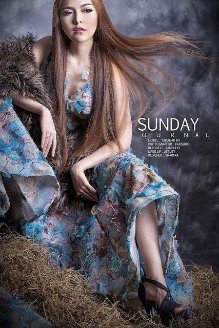 Sunday Journal Cover Photo Of Yadanar My