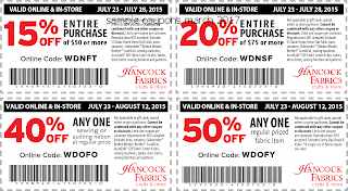 Hancock Fabrics coupons march 2017