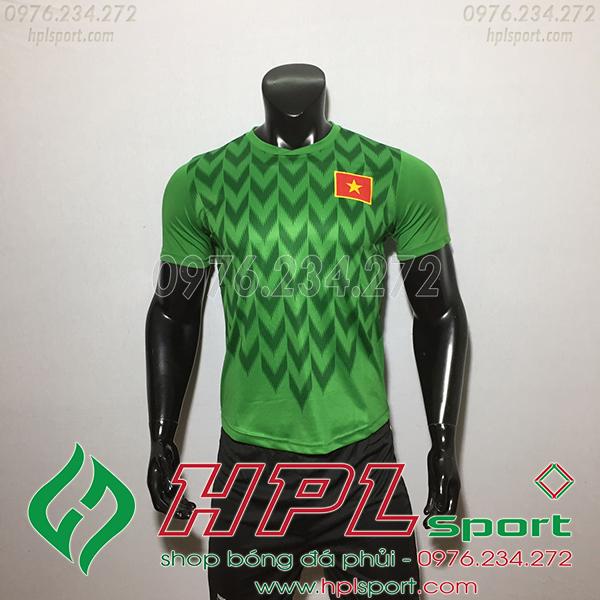 Áo bóng đá đội tuyển Việt Nam xanh 2019