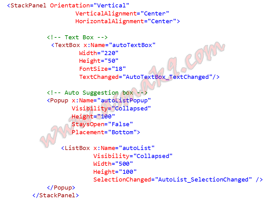 WPF: Auto Complete/Suggestion Text Box Control - Asma's Blog