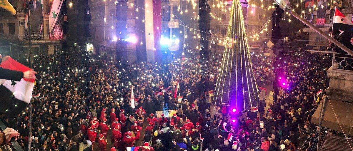 Φοιτητές πανηγυρίζουν την νίκη στο Πανεπιστήμιο του Χαλεπίου (ΒΙΝΤΕΟ)