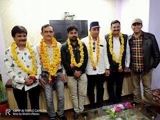 मध्यप्रदेश मीडिया संघ की बुरहानपुर जिले की ईकाईयों के अध्यक्षों का हुआ सम्मान समारोह