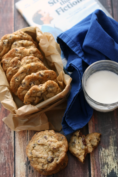 <b>Sweet & Salty Chocolate Chip Pecan Cookies</b> inspired by Stranger Than Fiction {food 'n flix}