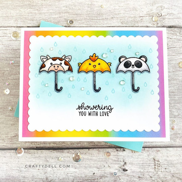 Sunny Studio Stamps: Spring Showers Customer Card by Adelle Emery