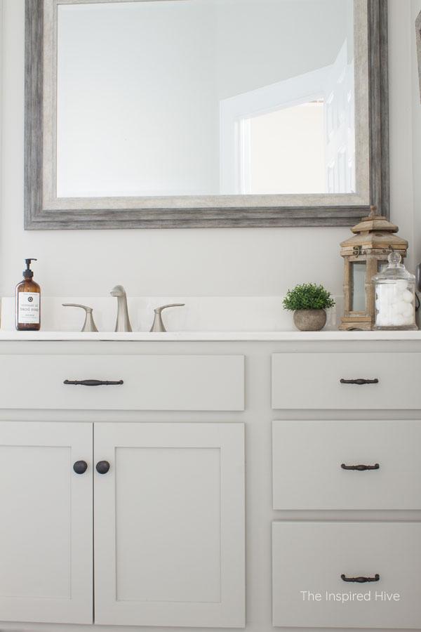Builder Grade To Farmhouse Charm Master Bathroom Makeover