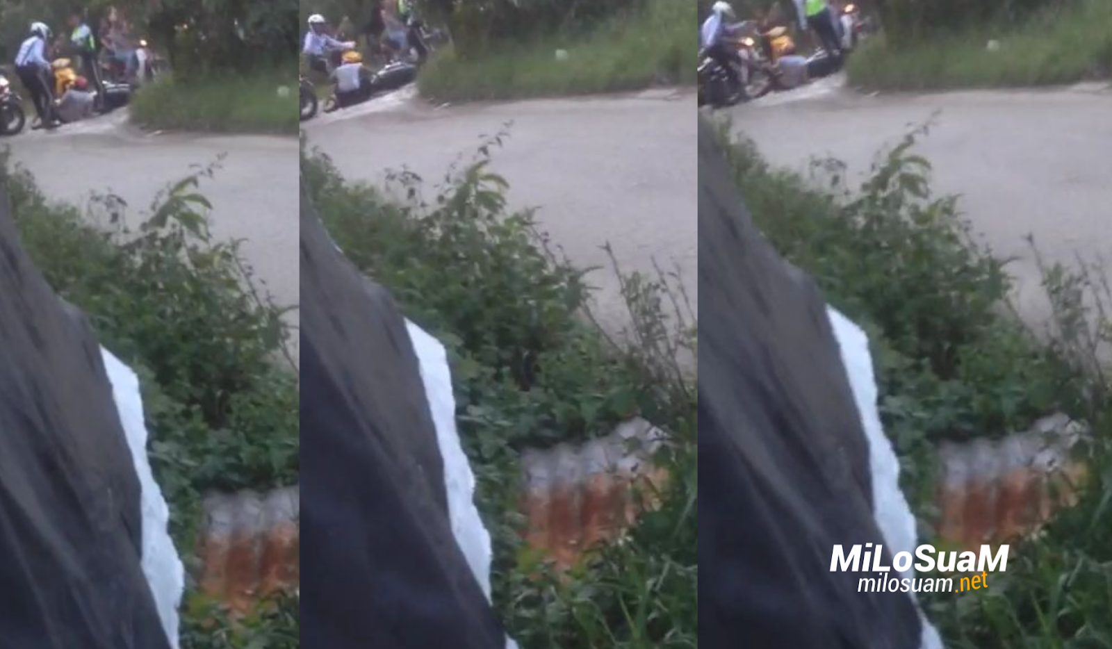 Polis traffik maki hamun dan sepak penunggang motorsikal