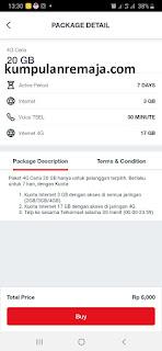 Cara Beli Paket  4G Ceria 20GB di My Telkomsel