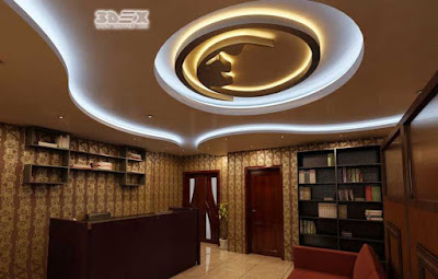 POP design false ceiling designs for hall with LED indirect lights