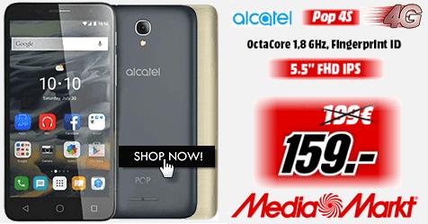 """Οκταπύρηνο 4G, Alcatel POP 4S, 5.5"""", mediamarkt"""