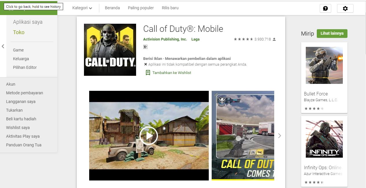 Main Call of Duty Mobile Dengan Smartphone 2 Jutaan