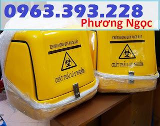 Thùng chở rác y tế, thùng vận chuyển chất thải y tế, thùng chở rác thải nguy hại TCCTYT2