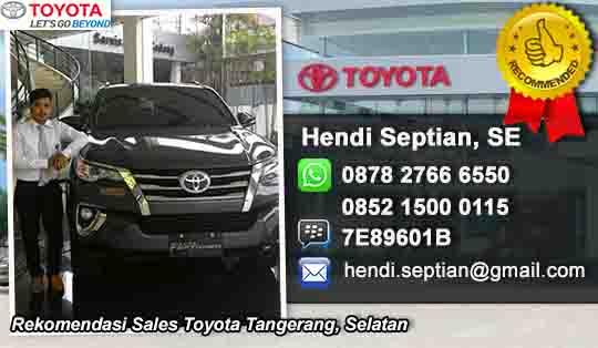 Rekomendasi Sales Toyota Tangerang Selatan