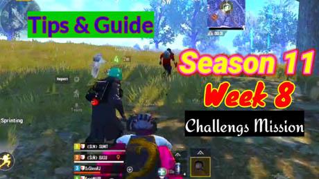 Pubg Mobile Season 11 Week 8 Challenges Mission TIps