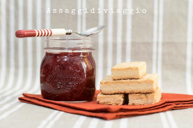 Confettura di fragole e shortbread