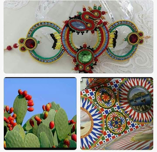Soutache creativo e uncinetto la Sicilia in primo piano.....! | Food and beauty passion...