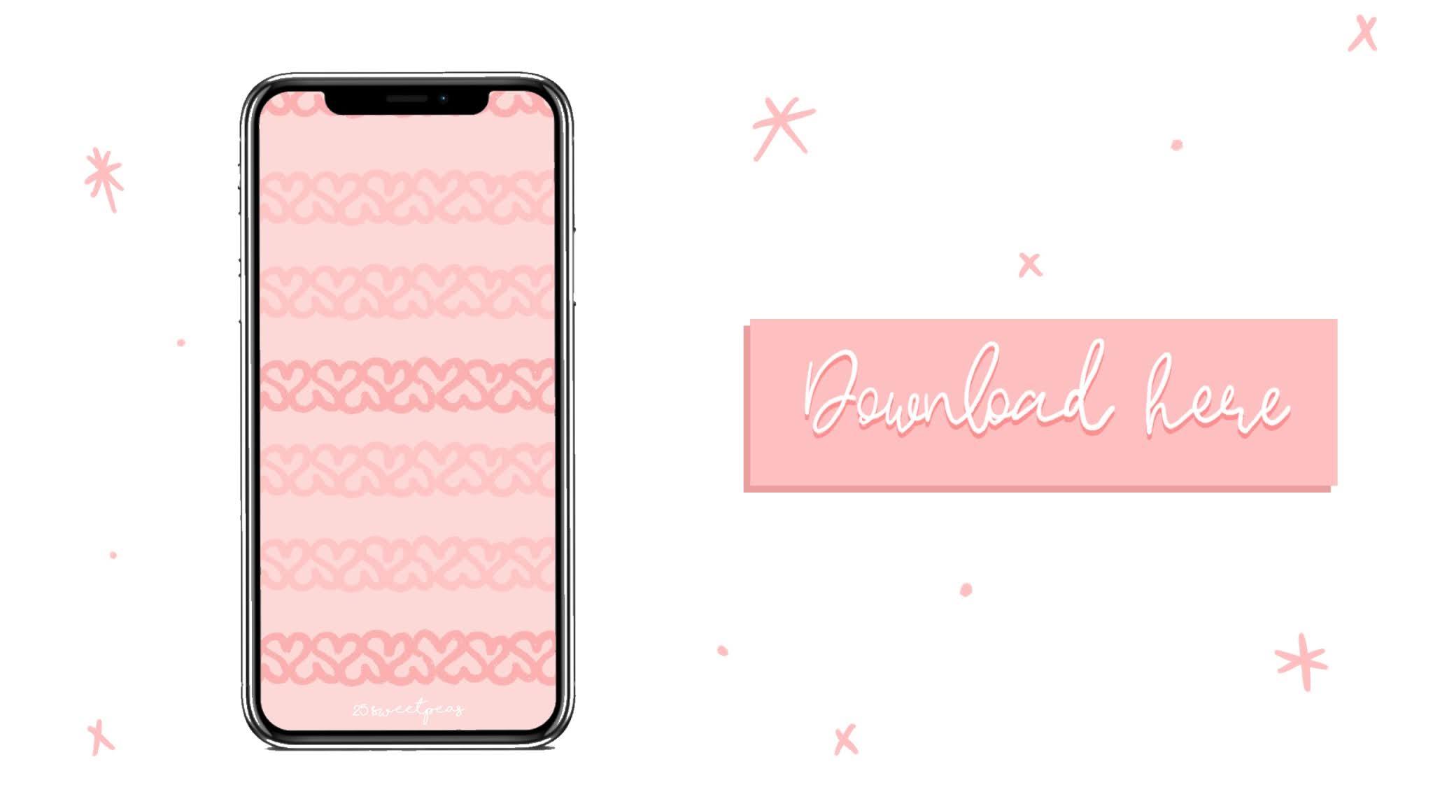 Heart Stripes iPhone Wallpaper 25 Sweetpeas