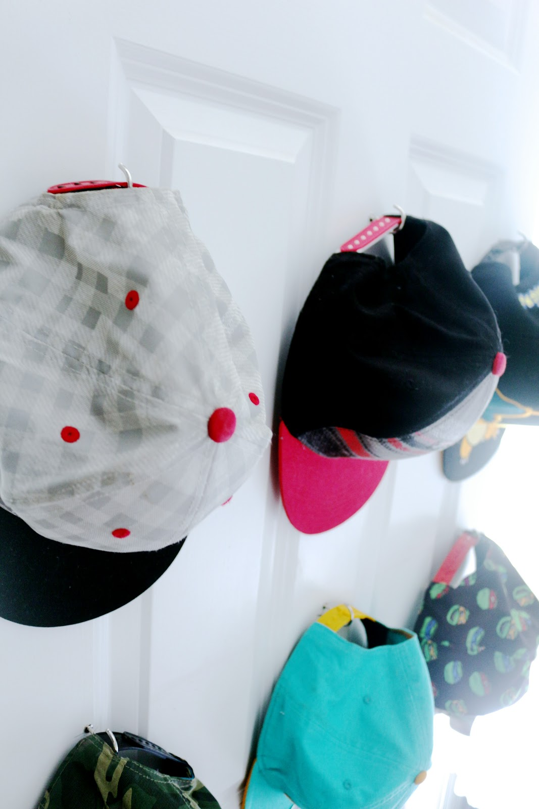 cup hook baseball hat storage