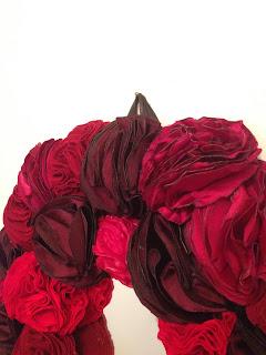 mor güller ayna dekoratif ev dekorasyon
