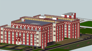 3d Views of All India Institute of Unani Medicine Hospital, Ghaziabad by Archkala