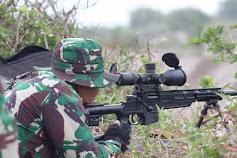 Yonif Raider 408/Sbh Pertajam Kemampuan Penembak Runduk dengan Latihan