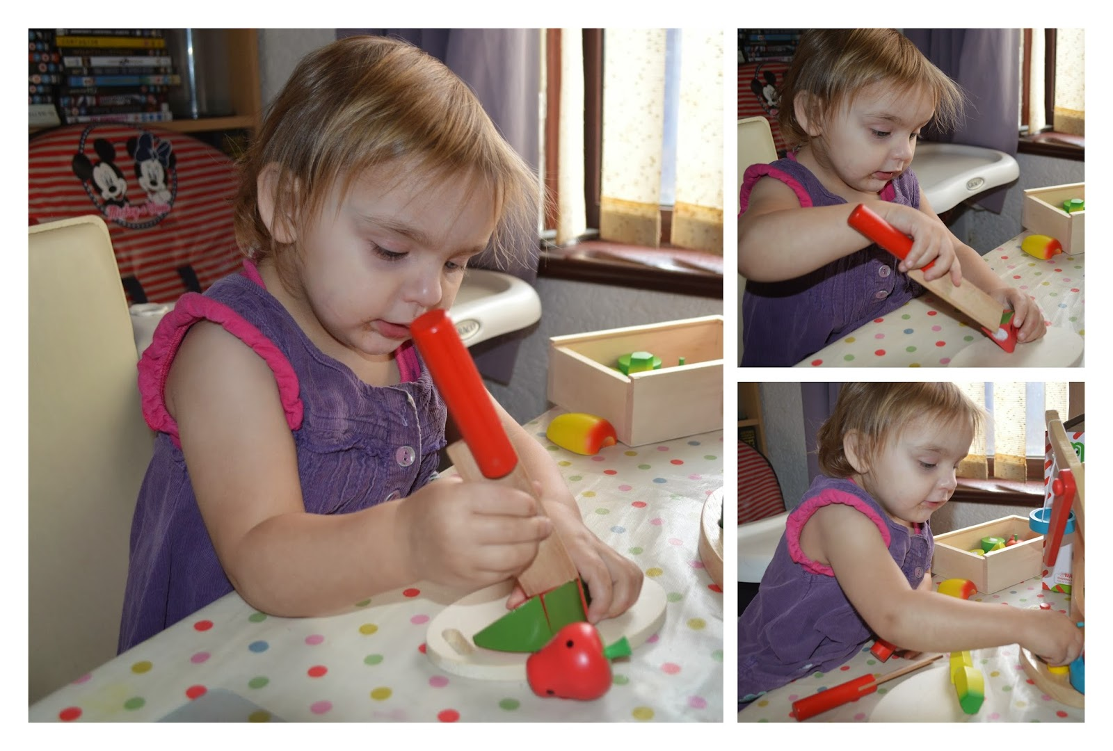 Back to school Izzy play wooden fruit balance