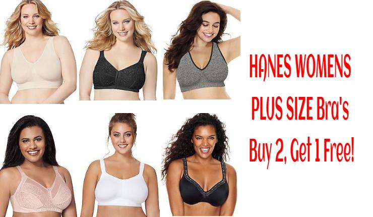 HANES WOMENS PLUS SIZE Bra's Buy 2, Get 1 Free! Mix & Match