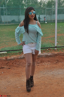 Madhulagna Das looks super cute in White Shorts and Transparent Top 33.JPG