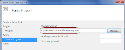 Schedule Disk Cleanup in Windows 7