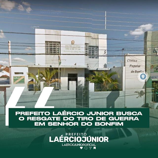 PREFEITO DE BONFIM BUSCA O RESGATE DO TIRO DE GUERRA