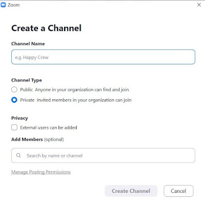 Create a Zoom Channel
