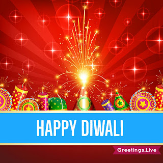 Diwali Crackers fire works Greetings Live
