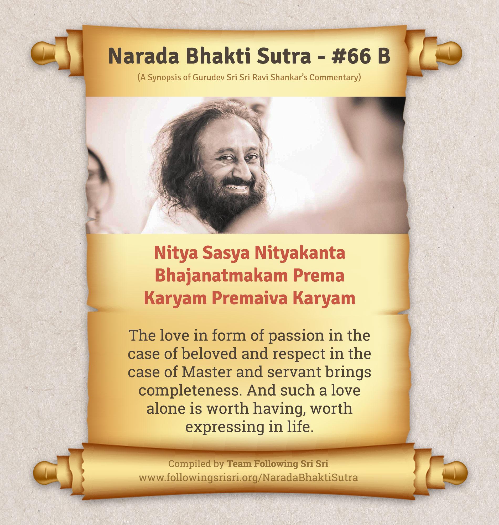 Narada Bhakti Sutras - Sutra 66 B