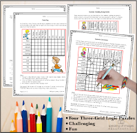 Keep kids engaged and challenged at the end of the school year with fun logic puzzles on Teachers Pay Teachers. #teachersofthegram #teachersofinstagram #teachersoffacebook #teach