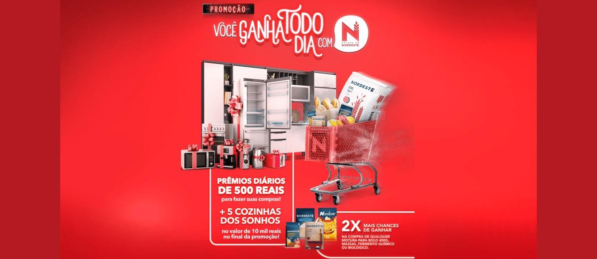 Participar Promoção Você Ganha Todo Dia Nordeste Alimentos 2020 - Prêmios, Ganhadores