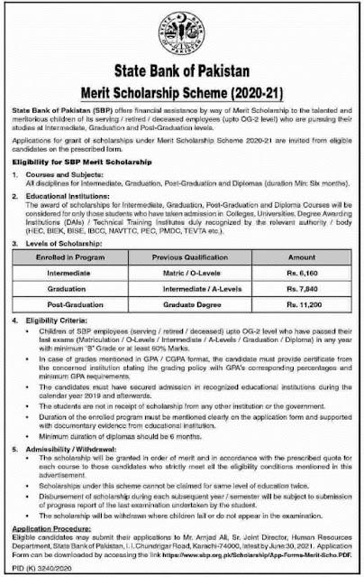 state-bank-of-pakistan-merit-scholarship-application-form