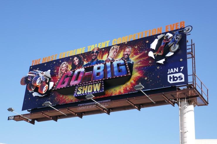 Go Big Show series launch billboard