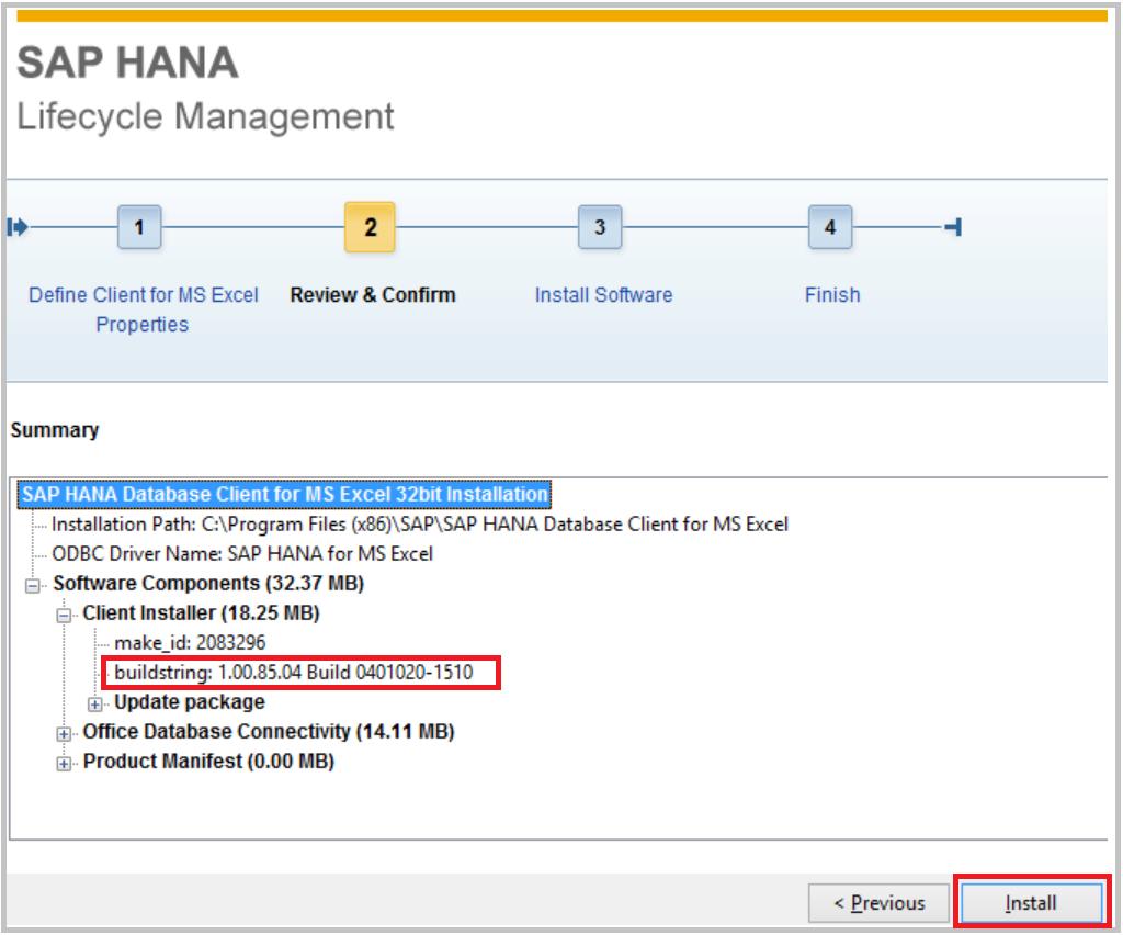 HANA Tutorials: MS Excel - HANA ODBC client install and